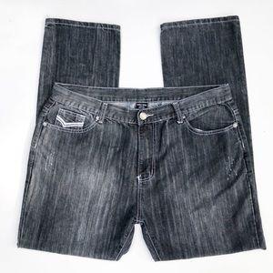 Amongst Friends Stone Gray Straight Leg Jeans 40